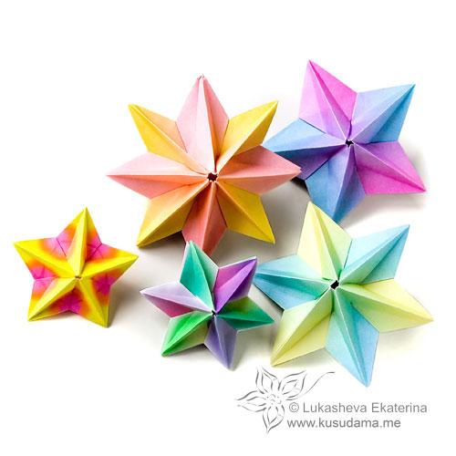В этом уроке я решил показать вам схему модульной звезды оригами.