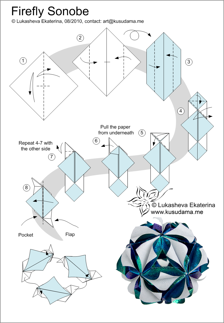 kusudama me! - modular origami dragonfly unit easy diagram of the nitrogen cycle easy diagram of firefly #4