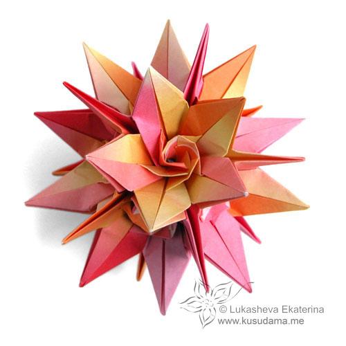 оригами кусудама лилия - Оригами и.