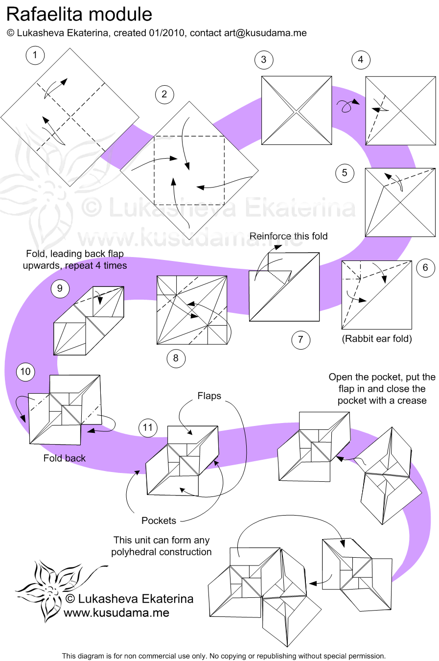 Diagram for Rafaelita-30 kusudama