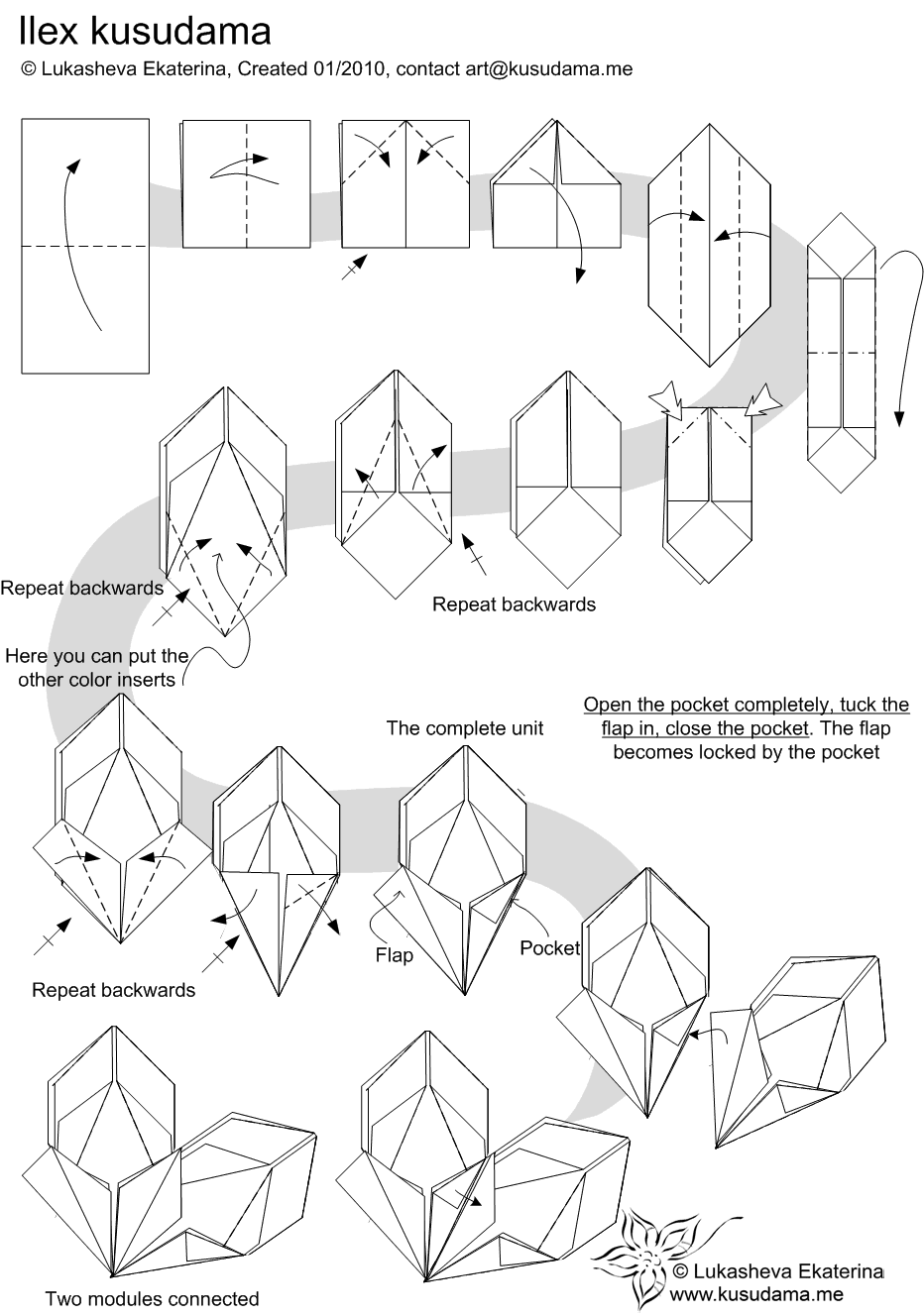 art s origami  kusudama ilex
