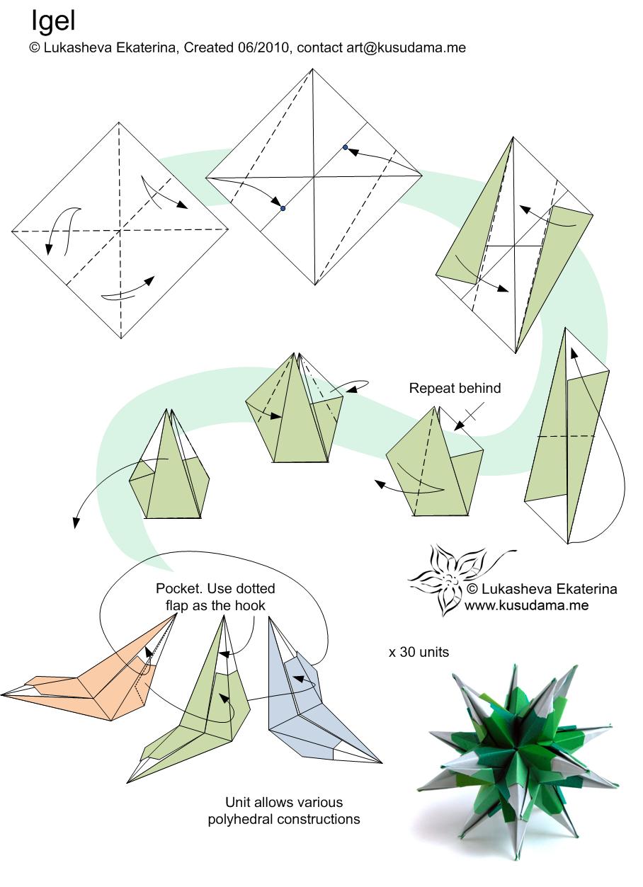 Kusudama Tulip Diagram Electrical Work Wiring Diagram