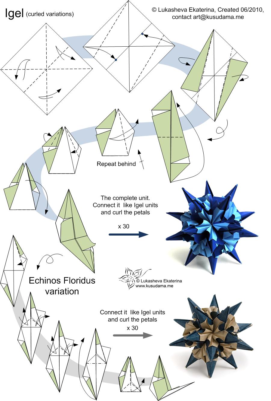Origami Kusudama New 862 Modular Origami Kusudama Instructions