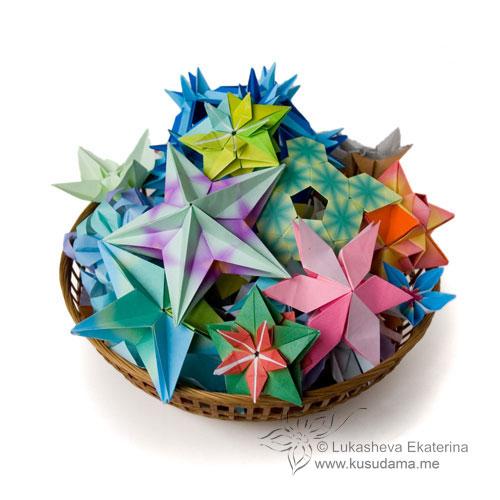 Модульное оригами.  Кусудамы.